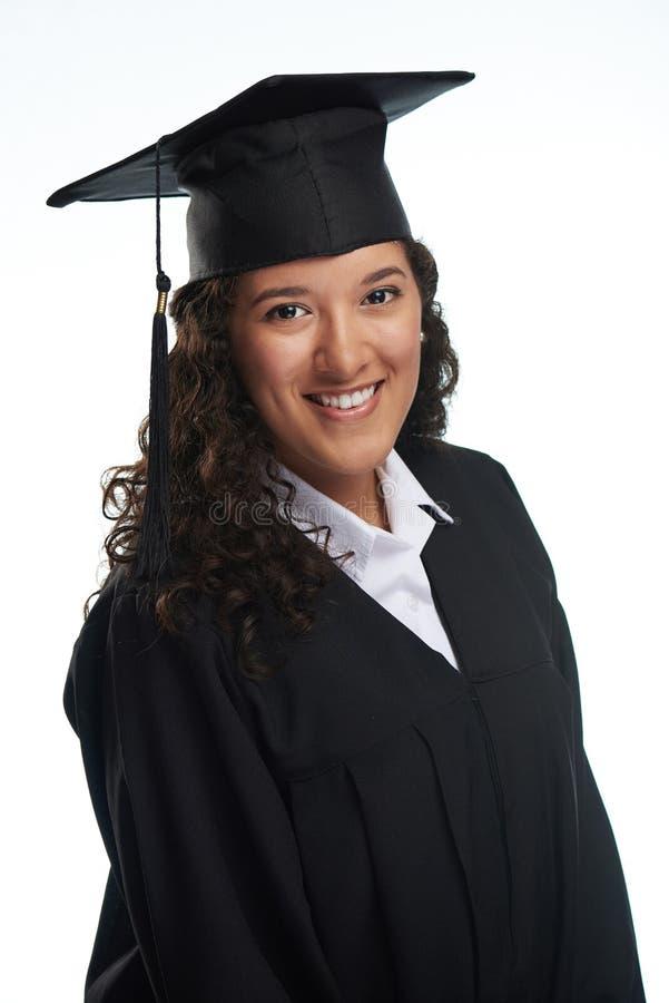 Красивая молодая испанская девушка студента стоковое изображение rf
