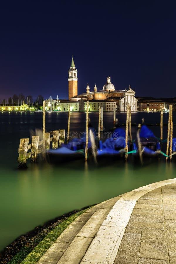 Красивая ноча в Венеции стоковые фотографии rf