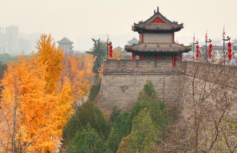 Красивая осень в городе Xian, Китай стоковая фотография rf
