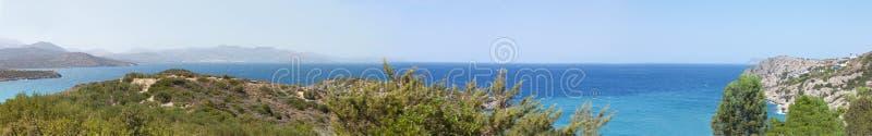 Красивая панорама ландшафта моря Крита, Греции стоковые фотографии rf