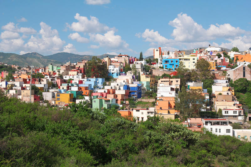 Красивая панорама Гуанахуата в Мексике стоковая фотография