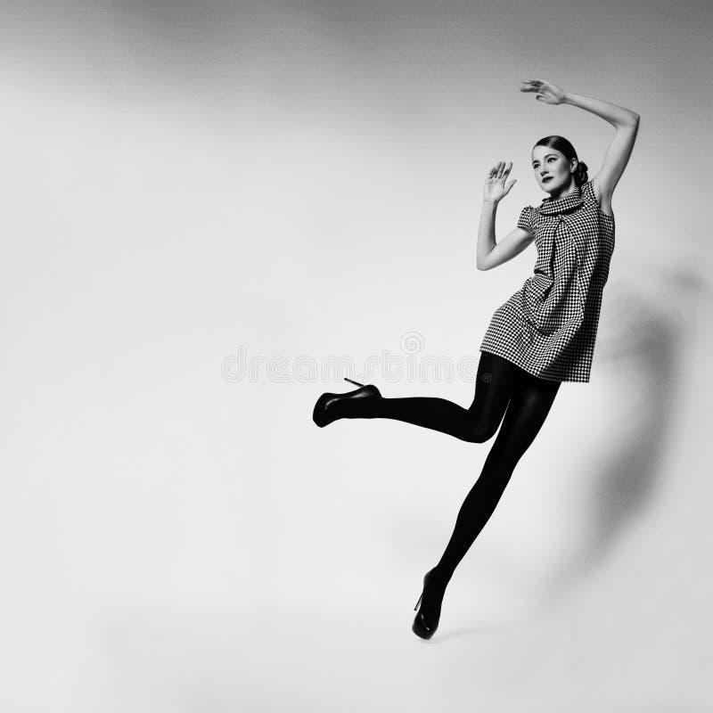 Красивая падая девушка стоковые изображения rf
