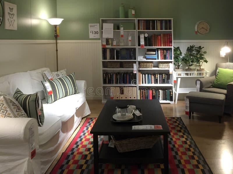 Красивая предпосылка живущей комнаты стоковые изображения