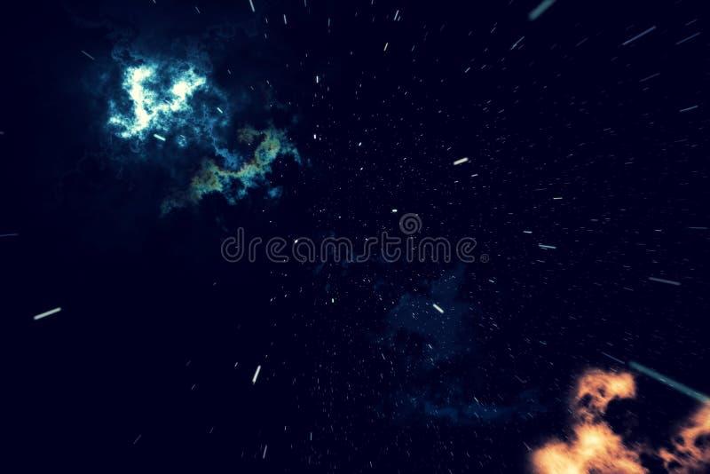 Красивая предпосылка космоса с небом звезд и галактиками и созвездиями в космическом пространстве перевод 3d иллюстрация вектора