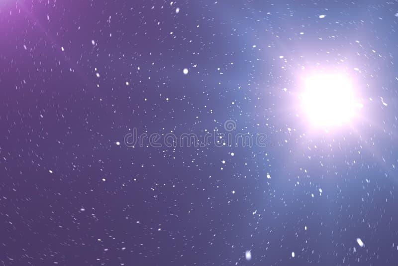 Красивая предпосылка космоса с небом звезд и галактиками и созвездиями в космическом пространстве перевод 3d иллюстрация штока