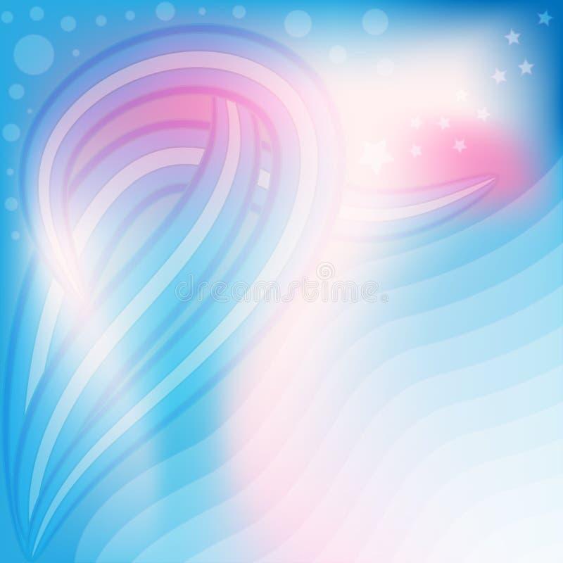 Красивая предпосылка сини, розовых и белых пастельная иллюстрация штока