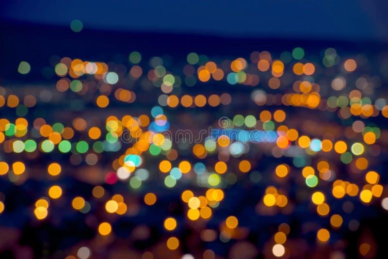 Красивая предпосылка bokeh светов рождества абстрактная стоковое фото