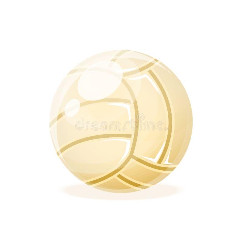 Красивая реалистическая классика, шарик волейбола, для играть бесплатная иллюстрация