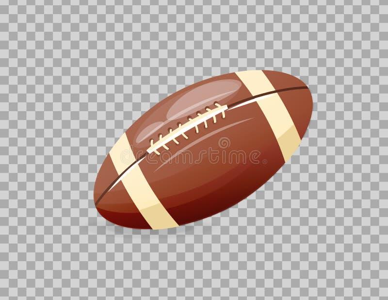 Красивая реалистическая классика, шарик рэгби, играя футбол, совместное занятие бесплатная иллюстрация