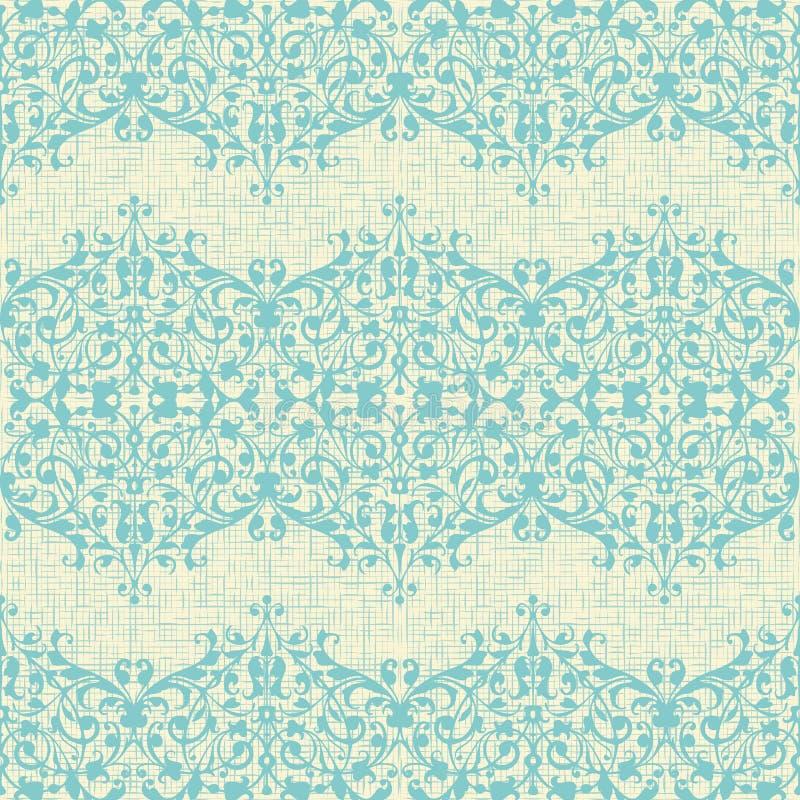 Красивая ретро голубая и желтая предпосылка с a иллюстрация вектора