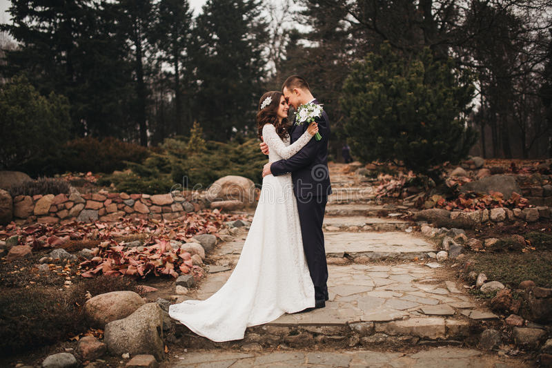 Красивая свадьба, супруг и жена, человек любовников стоковые фотографии rf