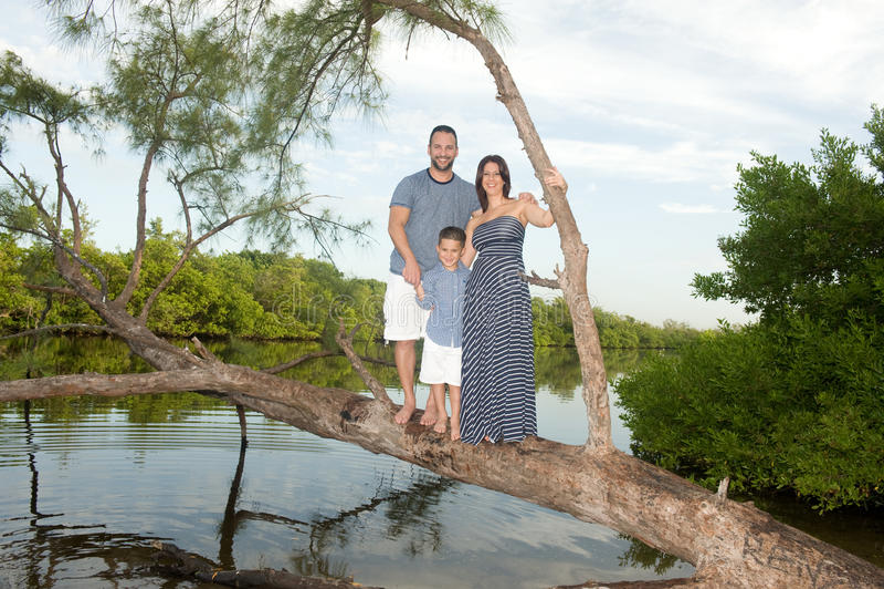 Красивая семья outdoors стоковые фото