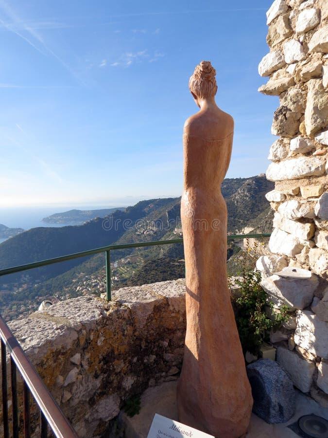 Красивая скульптура в саде Eze ботаническом стоковые фото