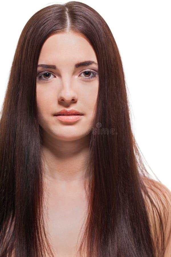 Красивая спокойная женщина с нежным выражением стоковое изображение rf