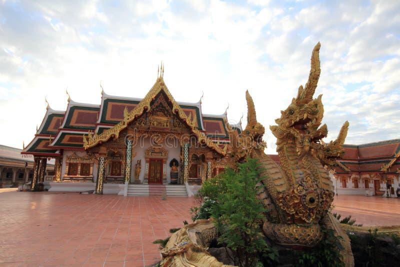 Красивая статуя церков и Naga стоковое изображение rf