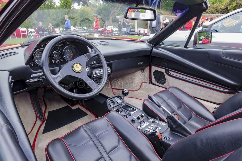 Красивая управляя сторона автомобиля Феррари стоковое фото rf