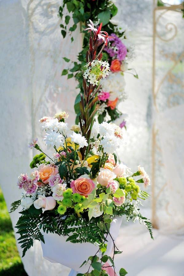 Красивая установка свадьбы стоковое фото