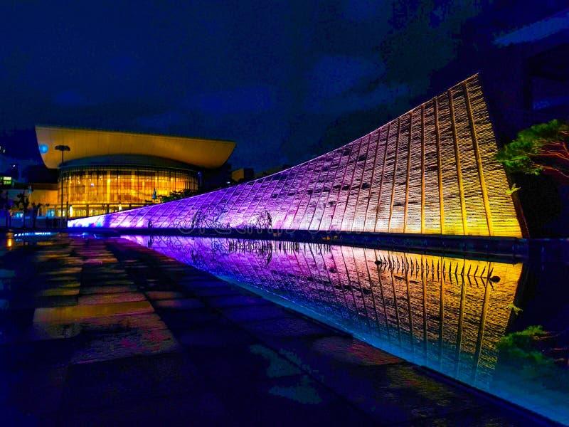 Красивая улица ночи Кореи стоковое изображение