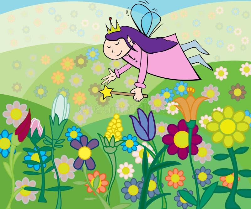 Красивая фе цветков иллюстрация штока