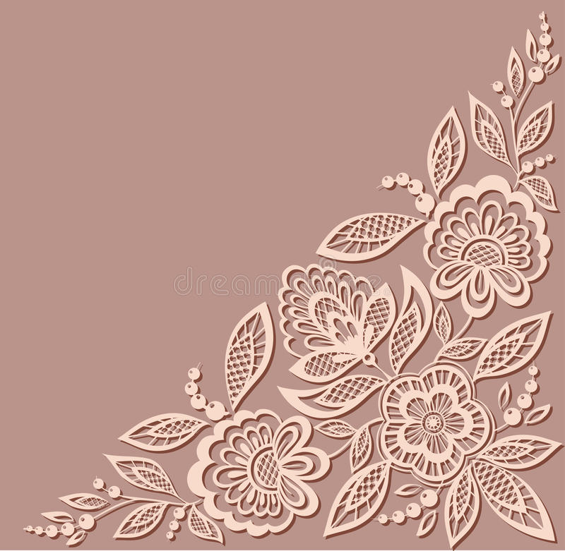 Красивая флористическая картина, элемент дизайна в  иллюстрация вектора