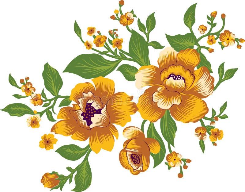 Красивая флористическая предпосылка для ткани иллюстрация штока