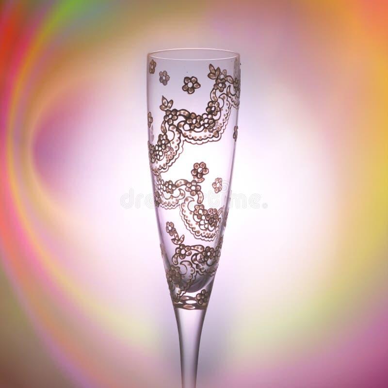 Красивая чашка украшенная вручную, для того чтобы провозглашать в особых случаях стоковое фото rf