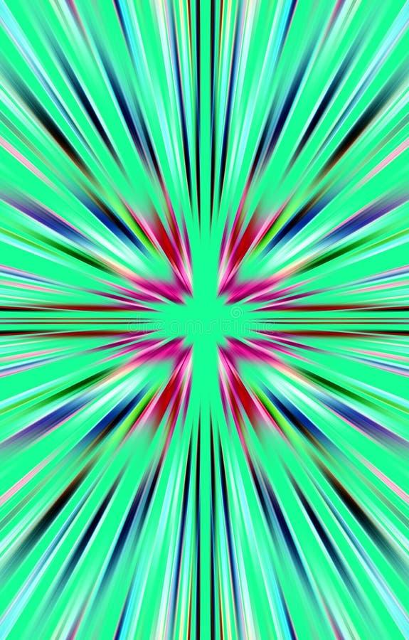 Красивая яркая предпосылка покрашенных лучей, прокладок от середины в краях бесплатная иллюстрация