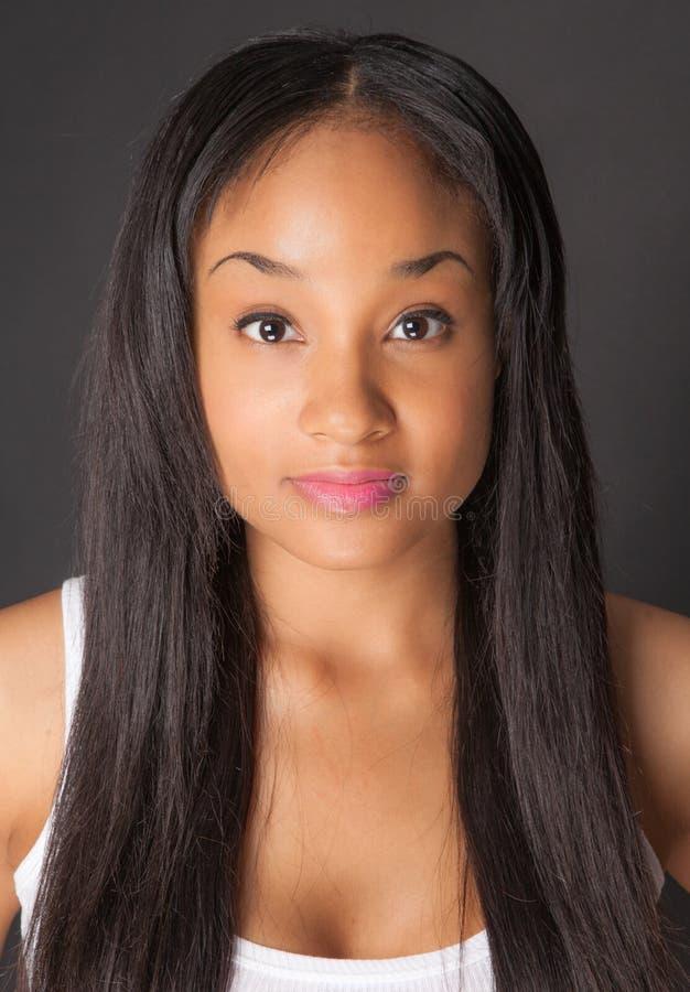 Красивая Multiracial женщина стоковое фото rf