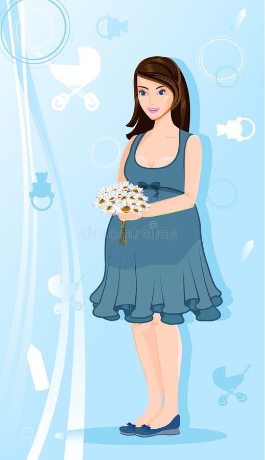 красивейшая беременная женщина стоковые изображения rf