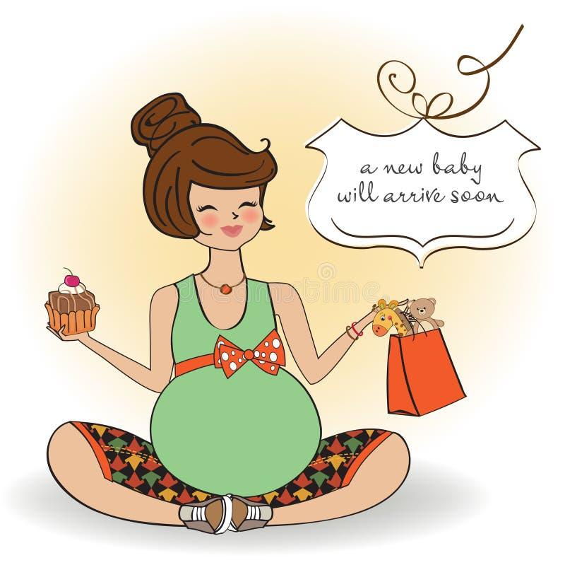 Открытка с днем рождения беременной подруге