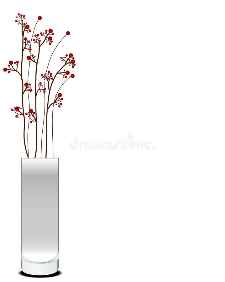 красивейшая ваза цветков иллюстрация вектора