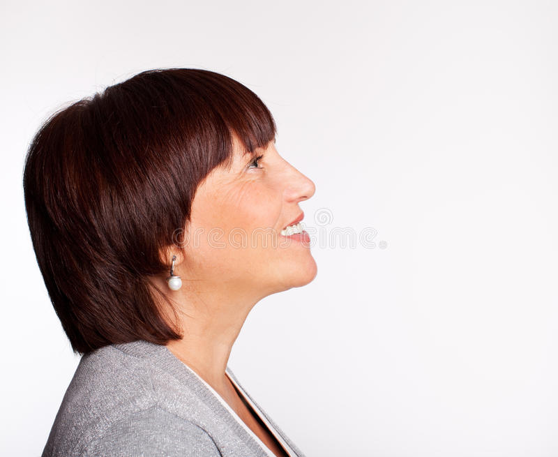 Download красивейшая возмужалая женщина Стоковое Изображение - изображение насчитывающей дело, элегантность: 18389849