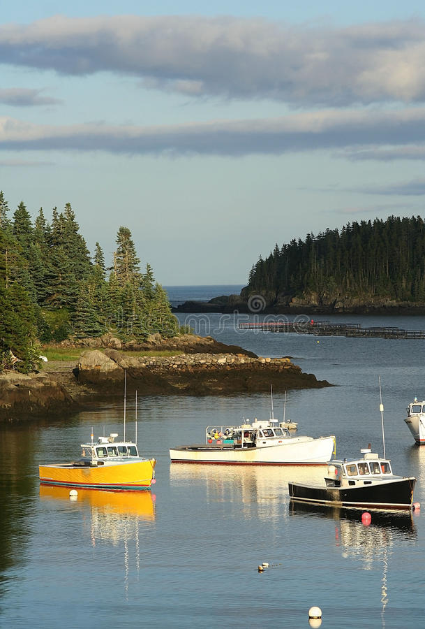 красивейшая гавань Мейн стоковое фото rf