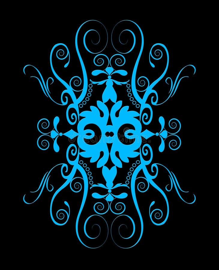 красивейшая голубая спираль конструкции иллюстрация штока