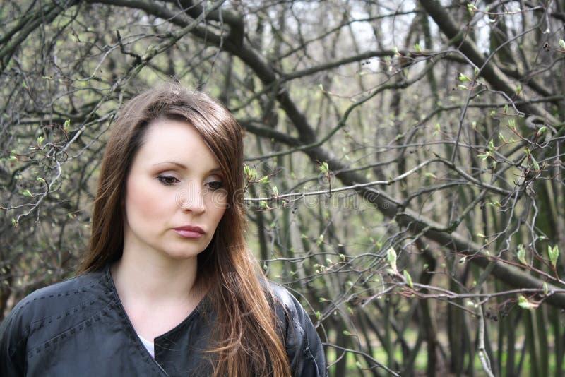 Красивейшая девушка в печали. стоковая фотография