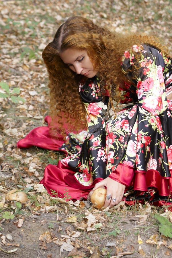 красивейшая девушка имбиря с волосами стоковые изображения rf