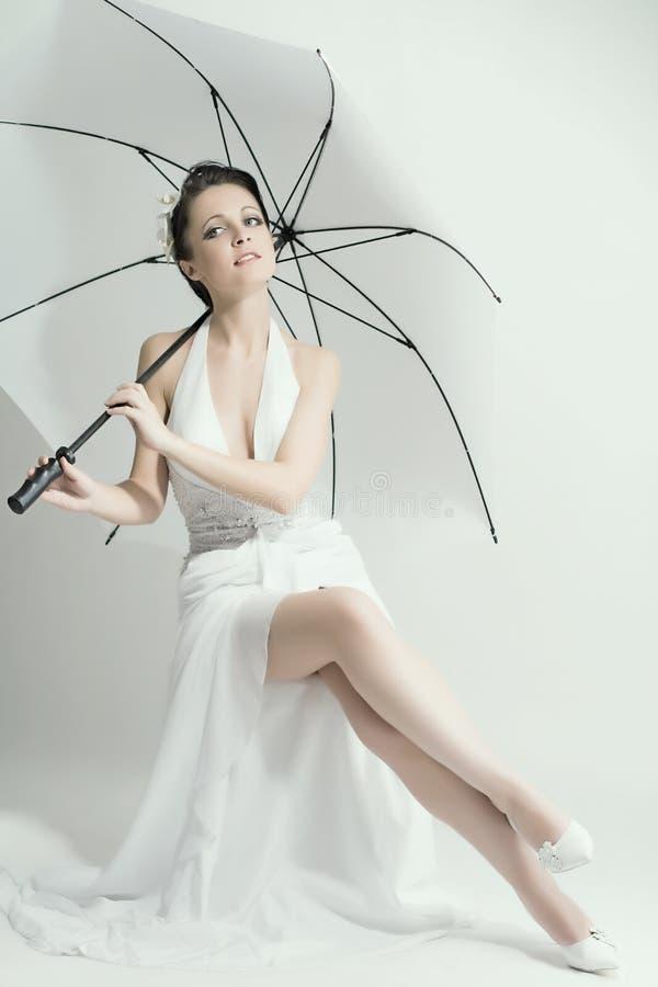красивейшая девушка невесты стоковая фотография rf
