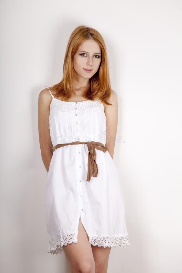 красивейшая девушка платья ретро стоковые изображения