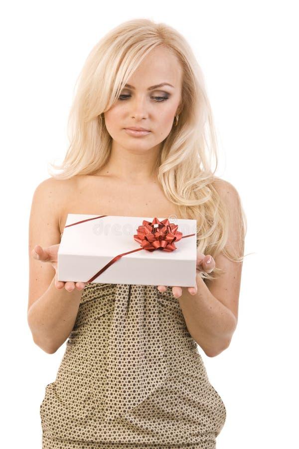 красивейшая девушка подарка стоковое изображение rf
