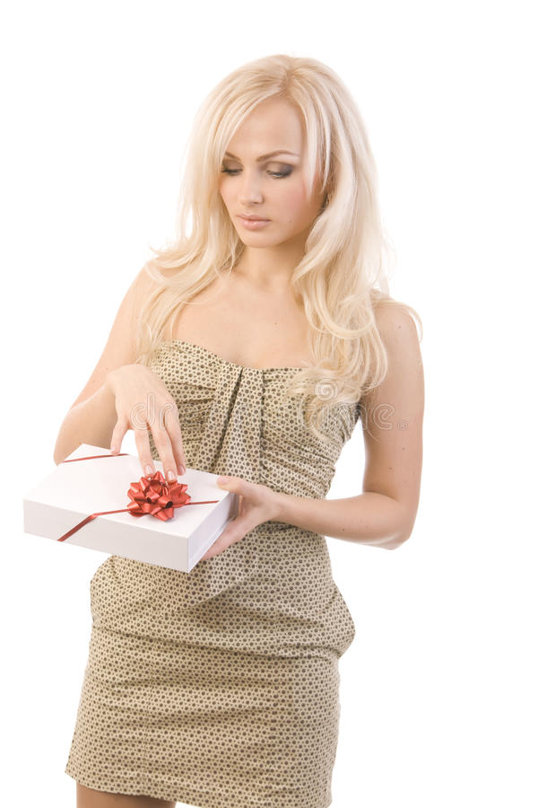 красивейшая девушка подарка стоковые фотографии rf