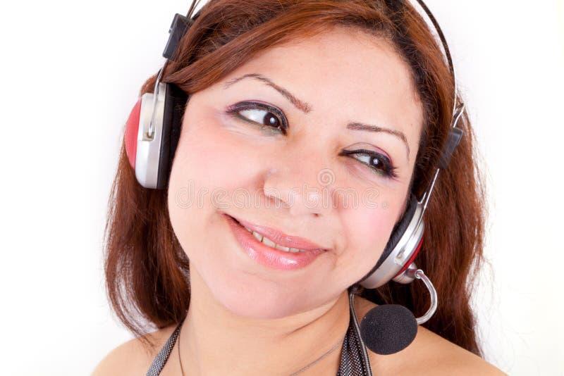 Красивейшая девушка работы с клиентом стоковое изображение