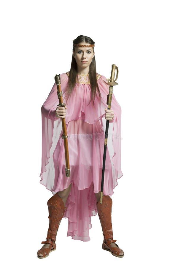 Красивейшая девушка ратника стоковые изображения rf