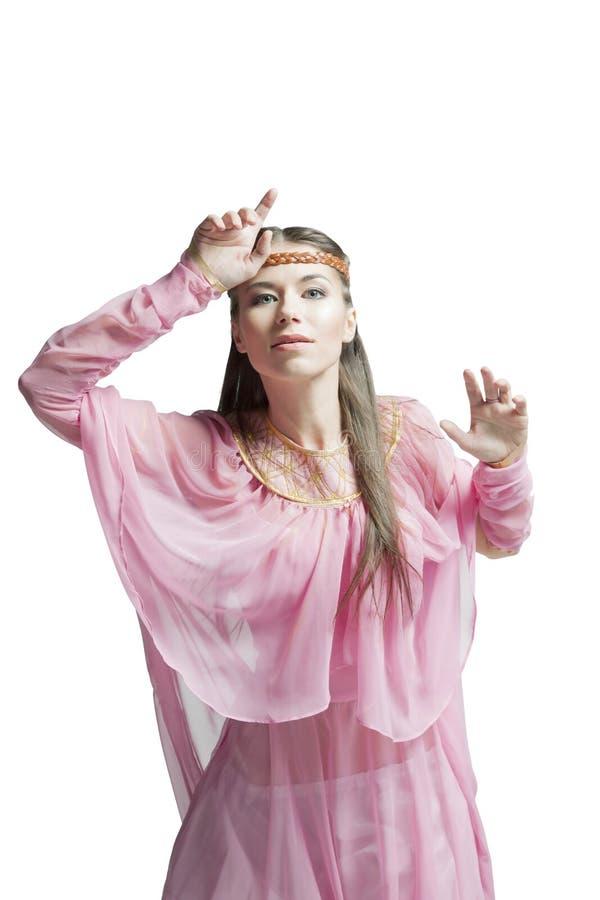 Красивейшая девушка ратника стоковое изображение rf