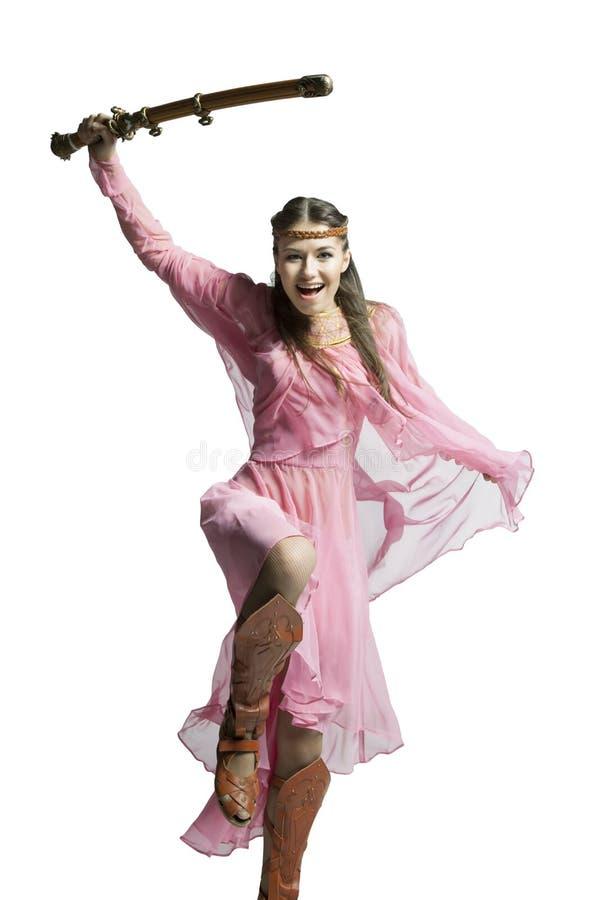 Красивейшая девушка ратника стоковая фотография