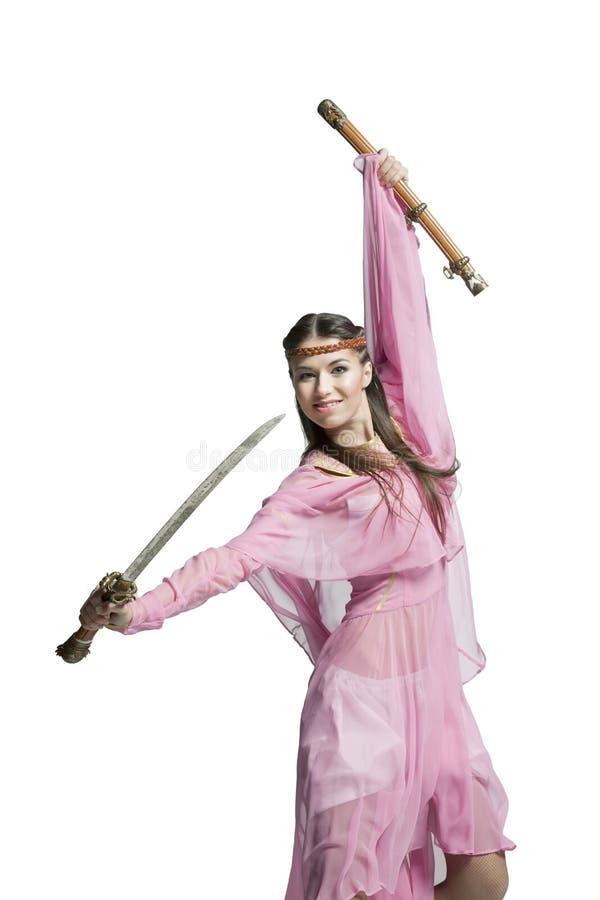 Красивейшая девушка ратника стоковое фото rf