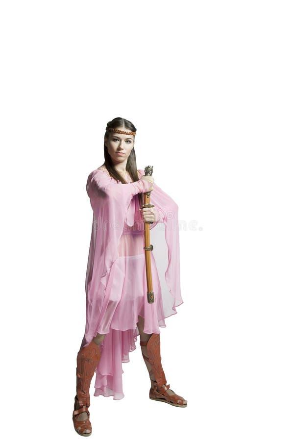 Красивейшая девушка ратника стоковое изображение