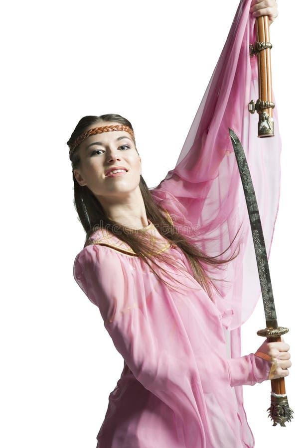 Красивейшая девушка ратника стоковые фотографии rf