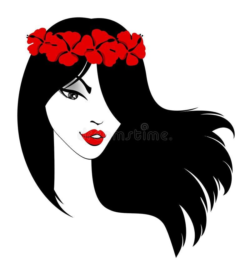 красивейшая девушка цветков иллюстрация штока