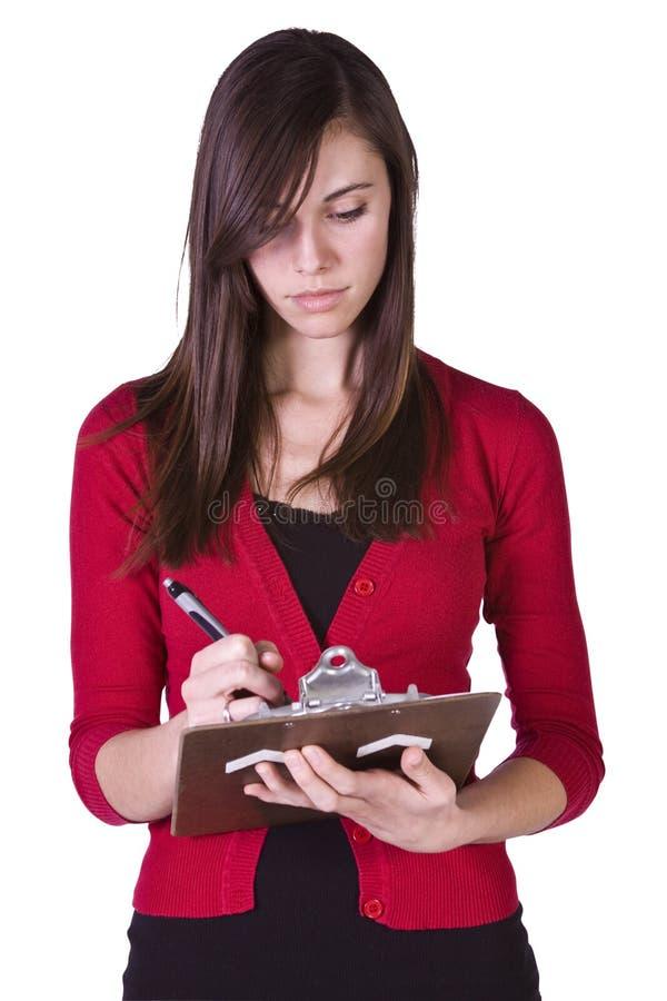 красивейшая девушка clipboard стоковые фото