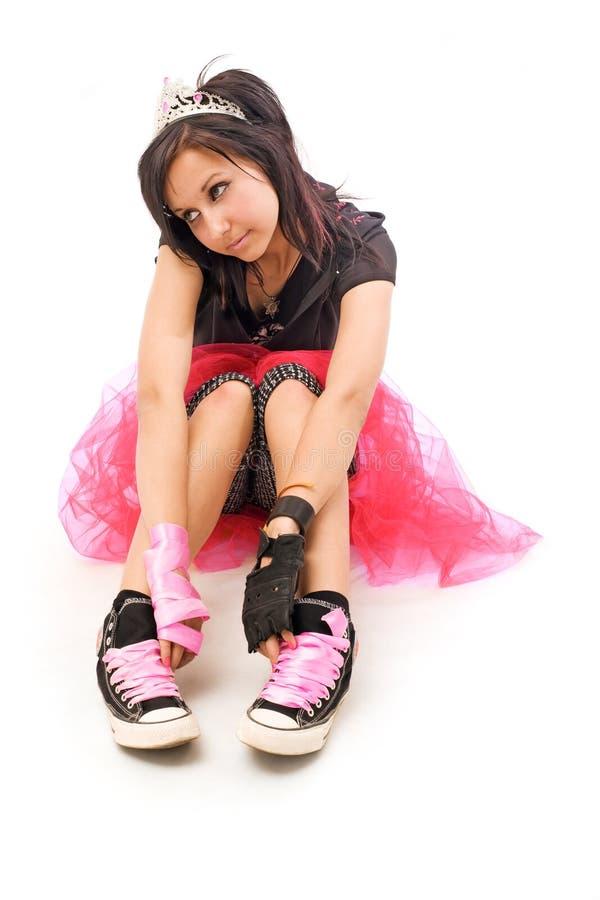 красивейшая девушка emo стоковое изображение